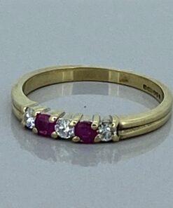Ruby & Diamond Eternity Ring