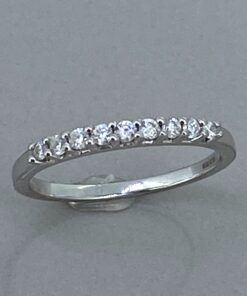 Vintage Diamond Half Eternity Ring
