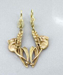 Vintage Harvest Mouse Earrings