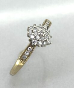 Gold Diamond Cluster Ring 9 carat