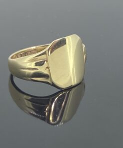 Dainty Gold Signet Ring, very small size I, in rose gold, can be resized free of charge