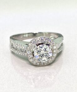 Solitaire Diamond Halo Ring