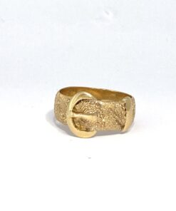 Gold Antique Buckle Ring
