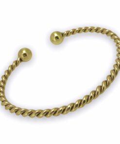 Gold Torque Twist Bangle