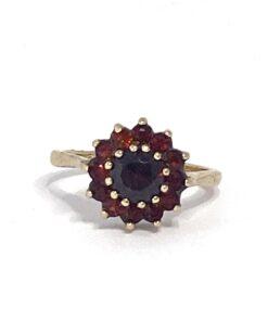Garnet Vintage Cluster Ring
